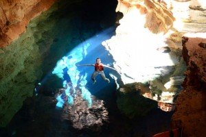 Poço Azul. Foto: Branco Pires