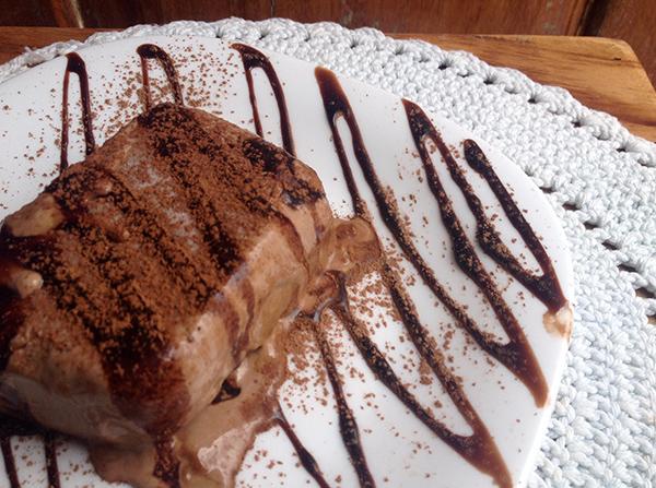 Semifreddo de chocolate meio amargo, da Maria Bonita Casa de Massas | Foto: Divulgação