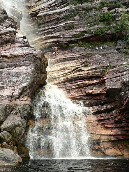 Cachoeira do Samuel, em Andaraí