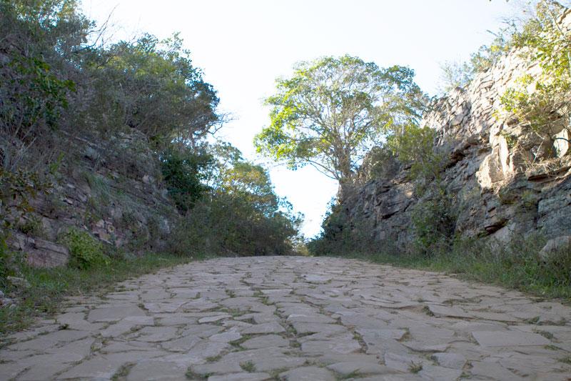Trecho da Estrada Real em Jacobina (BA), a 300 km de Salvador