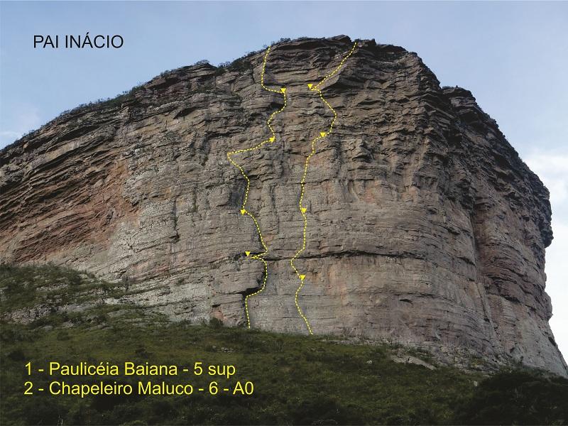 A Pauliceia Baiana foi a 1ª via aberta na Chapada, nos anos '90, pelo escalador Renato Torlay. Tem 120 metros de altura e o 5º nível de dificuldade do esporte, sendo voltada à escalada tradicional.