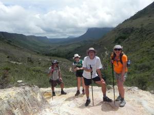 O grupo nos Gerais do Rio Preto. Foto: Arquivo Pessoal