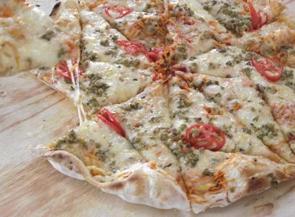 Pizza integral Capão Grande | Foto: Branco Pires