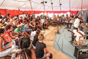 Workshop realizado no Circo do Capão durante o 4º Festival de Jazz do Capão | Foto: Divulgação