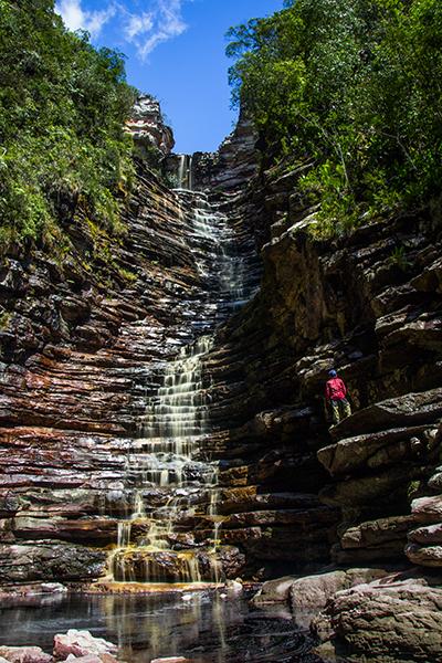 Cachoeira dos Cristais, em Andaraí. Foto: Caiã Pires