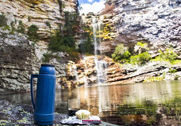 Cafézinho na Cachoeira das Três Barras, Andaraí/BA. Foto: Caiã Pires | www.be.net/caiapires