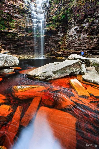 Cachoeira da Roncadeira, em Itaetê | Foto: Tom Alves