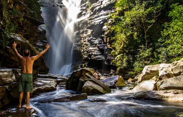 Cachoeira do Mosquito, em Lençóis/BA. Foto: Caiã Pires