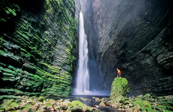 Cachoeira da Fumacinha, em Ibicoara | Foto: Alex Uchôa