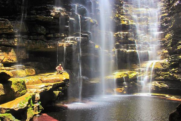 Cachoeira do Mixila, em Lençóis   Foto: Túlio Saraiva