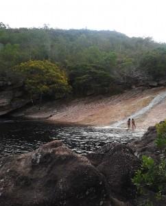 Ribeirão do Meio, em Lençóis. Foto tirada dia 28/11. Crédito: Savi Café e Hospedagem