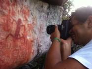 Sitío Rupestre da Serra Negra, em Palmeiras. Foto: Naum Bandeira