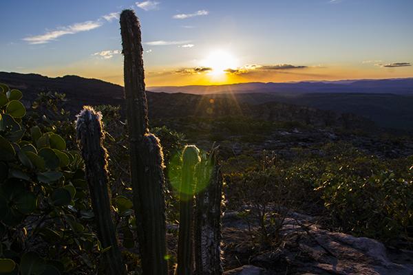 Pôr do sol no Morro do Pai Inácio. Foto: Caiã Pires