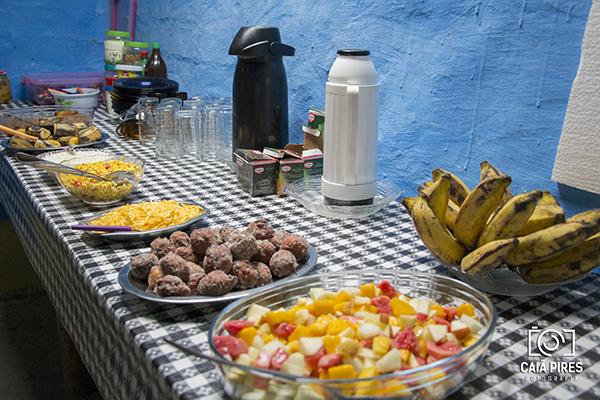 Café da manhã na prefeitura, no Vale do Pati. Foto: Caiã PIres | instagram.com/caiapires