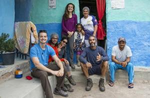 Nossa equipe na casa de Jailson, a famosa Prefeitura do Vale do Pati