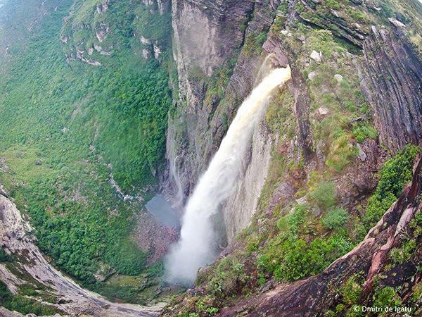 Cachoeira da Fumaça, no Vale do Capão/Palmeiras | Foto: Dmitri de Igatu