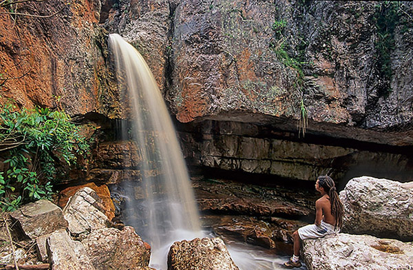 Cachoeira da Primavera, em Lençóis/BA. Foto: Alex Uchôa