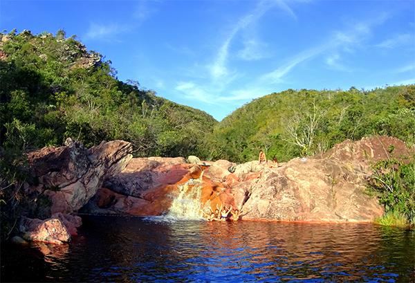 Cachoeira de cima, em Conceição dos Gatos - Palmeiras | Foto: Marcelo Issa