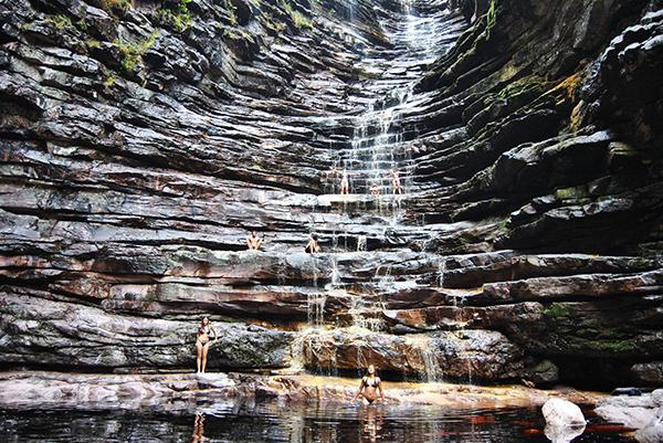 Cachoeira dos Cristais, em Andaraí | Foto: Igatu Escalada Trekking