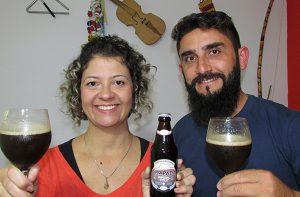 Fabiana e Claudio, produtores da Cerveja artesanal Chapada | Foto: Arquivo