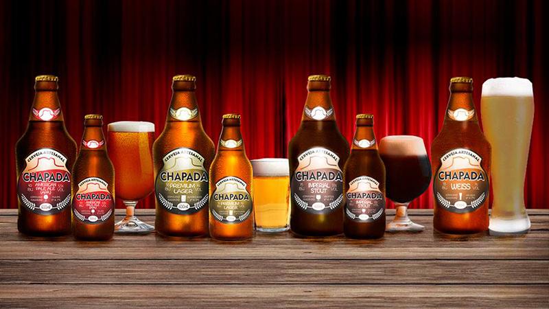 Diferentes estilos da Cerveja Chapada | Foto: Arquivo