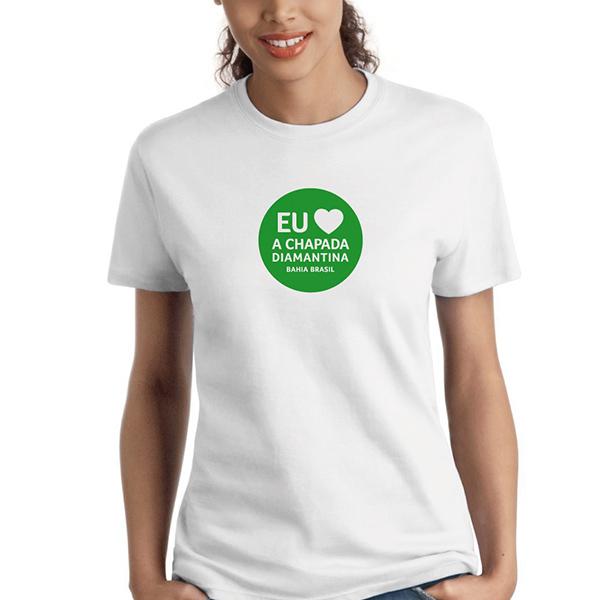 Camisetas Eu Amo a Chapada Diamantina | Foto: Divulgação
