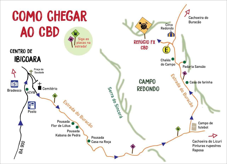 Mapa | Como Chegar ao CBD | Divulgação