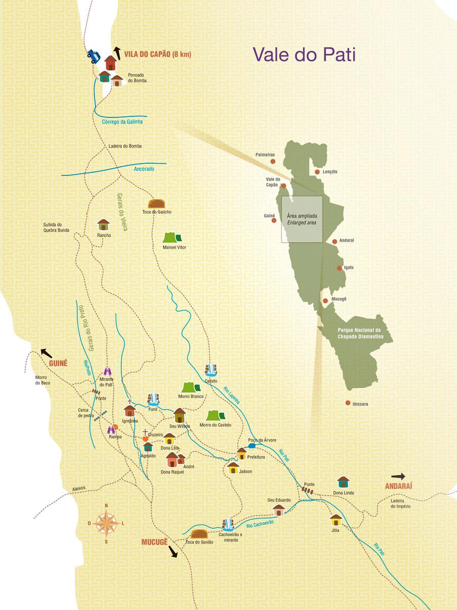 Mapa do Vale do Pati