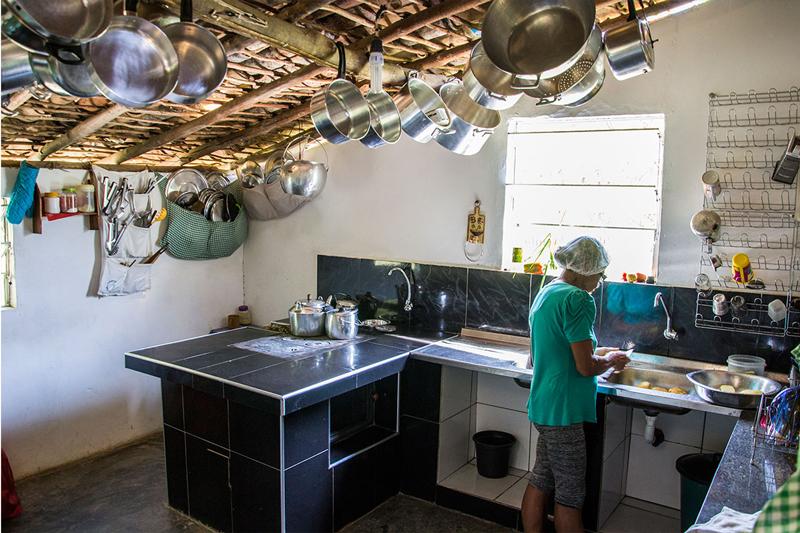 Cozinha da Casa de Seu Wilson | Foto: Caiã Pires