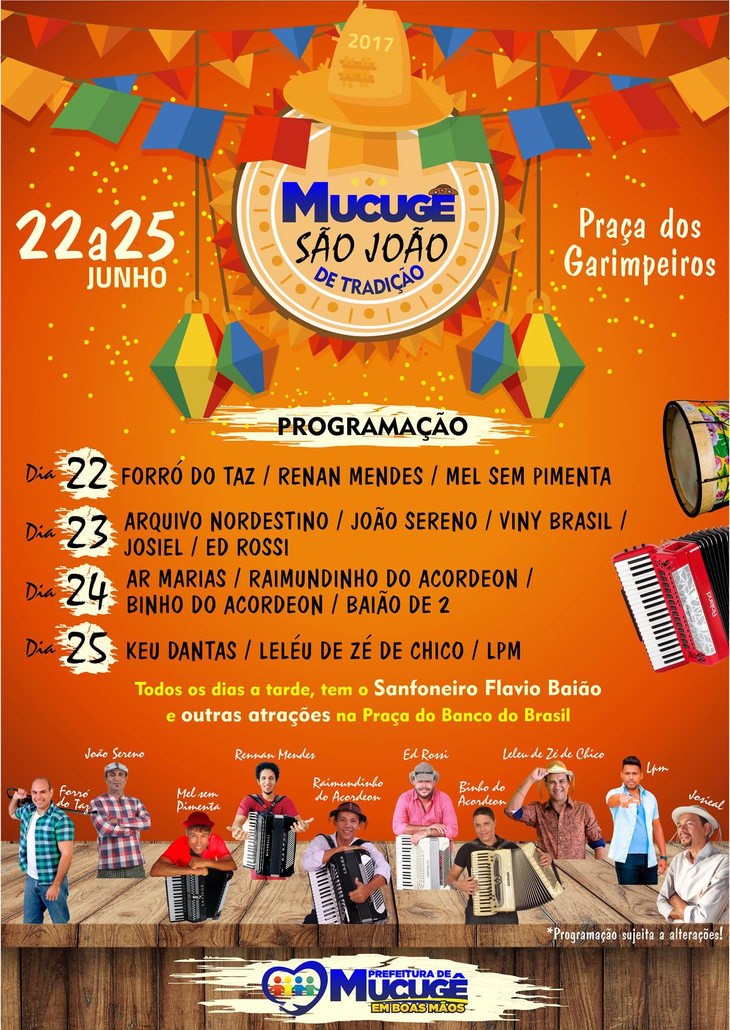Divulgação | São João de Mucugê 2017