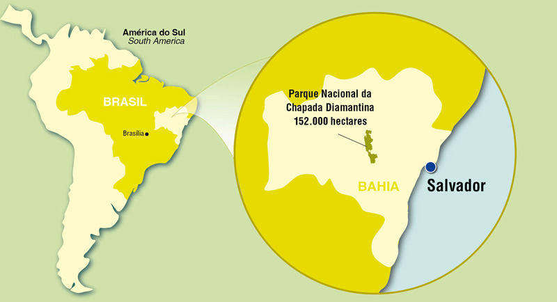 Parque Nacional da Chapada Diamantina no Mapa