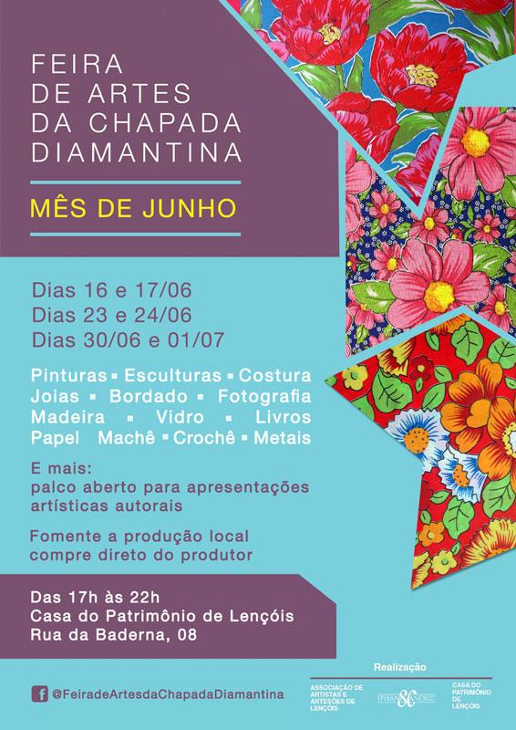 Guia-Chapada-Diamantina-Feira-de-artes-e-artesanatos-cartaz-junho