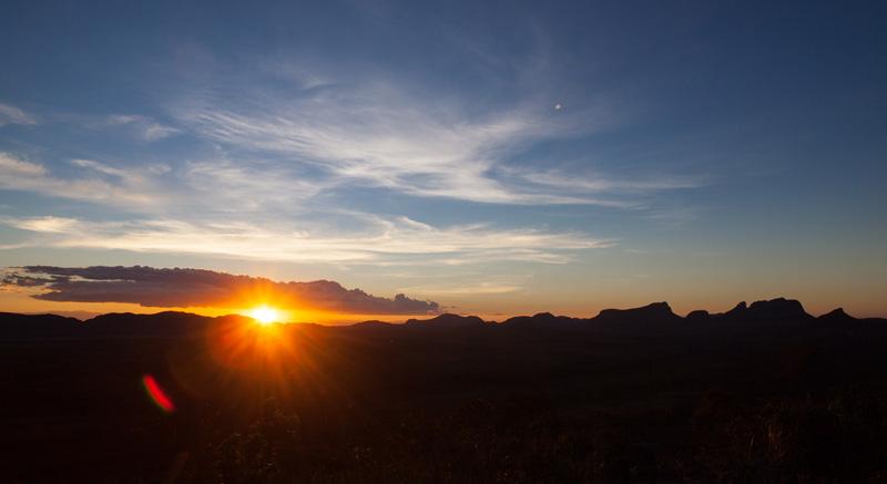 Pôr-do-Sol no alto da Serra da Tromba | Foto: Açony Santos