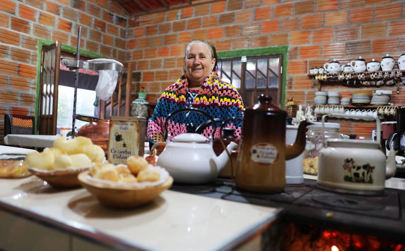 Dona Terezinha Rigno no Recanto do Café | Foto: Juca Badaró